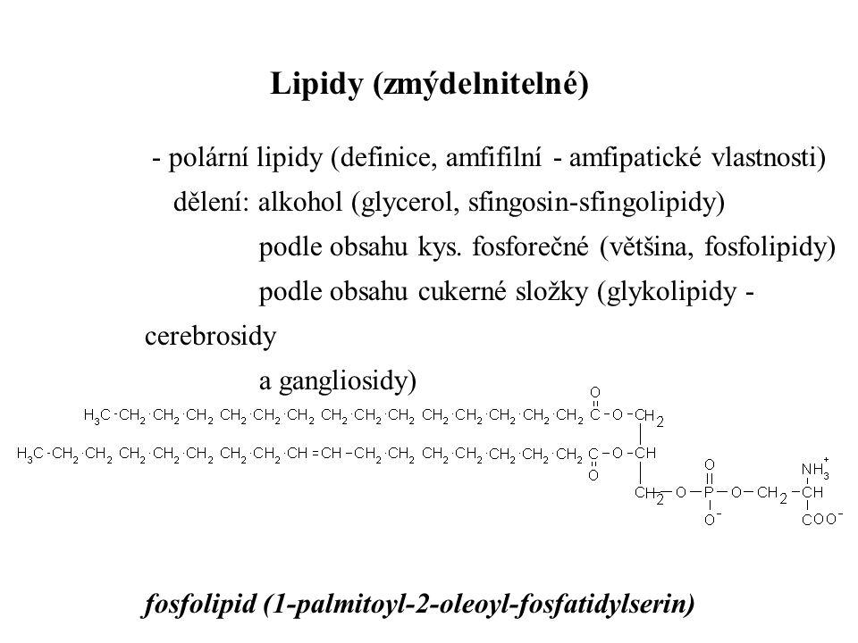 Lipidy (zmýdelnitelné)