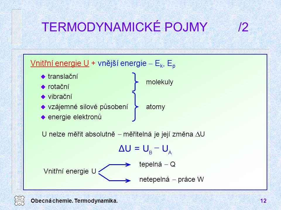 TERMODYNAMICKÉ POJMY /2