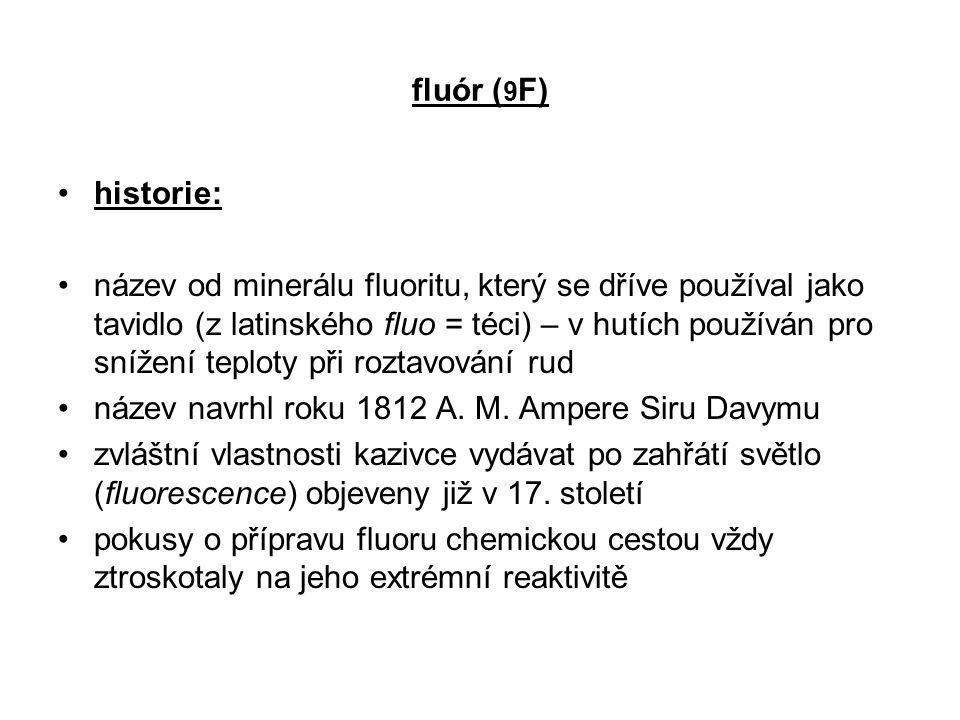 fluór (9F) historie: