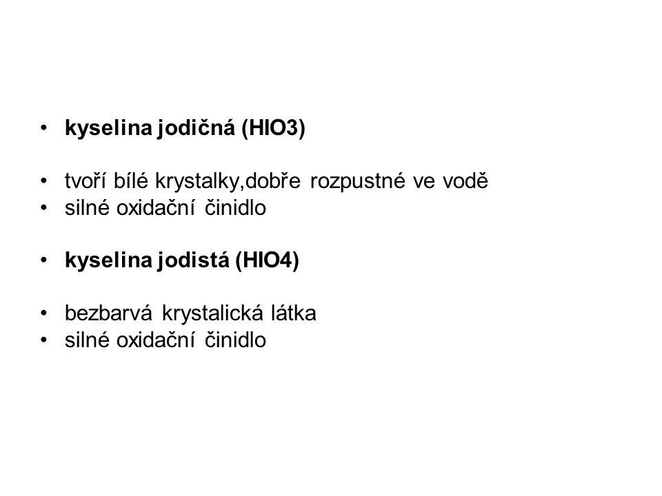 kyselina jodičná (HIO3)