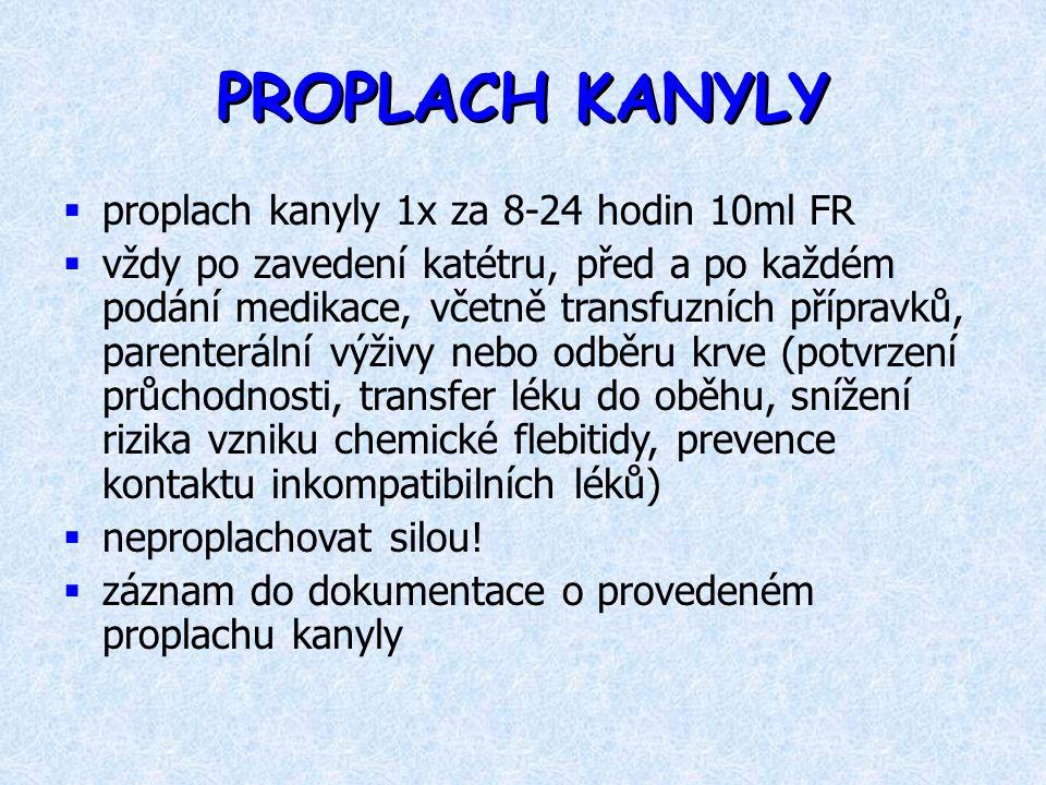 PROPLACH KANYLY proplach kanyly 1x za 8-24 hodin 10ml FR