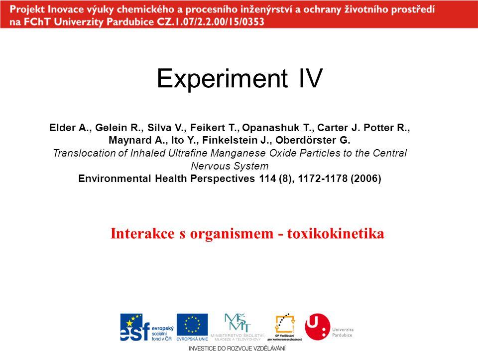 Interakce s organismem - toxikokinetika