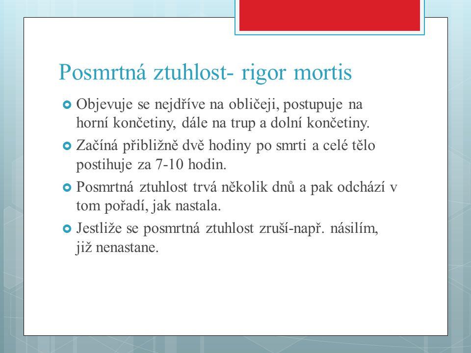 Posmrtná ztuhlost- rigor mortis