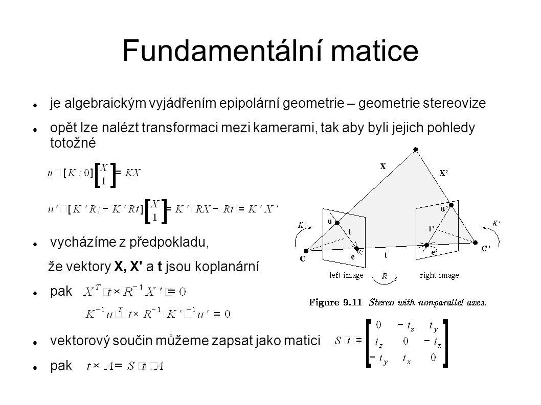 Fundamentální matice je algebraickým vyjádřením epipolární geometrie – geometrie stereovize.
