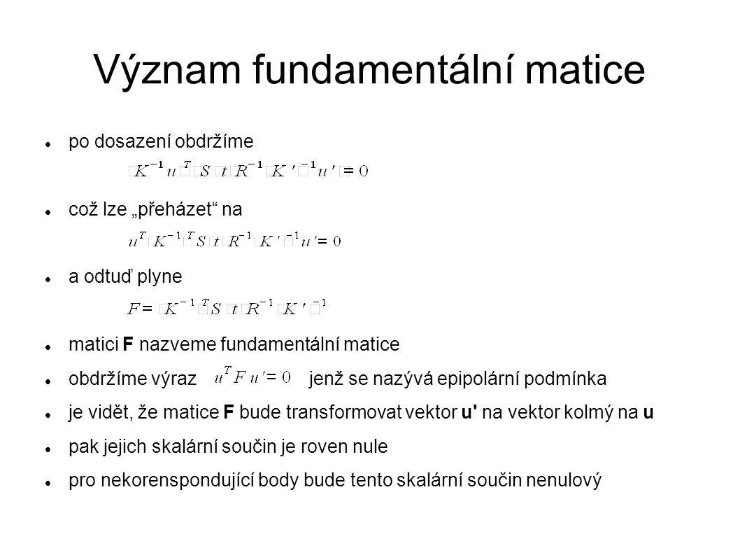 Význam fundamentální matice