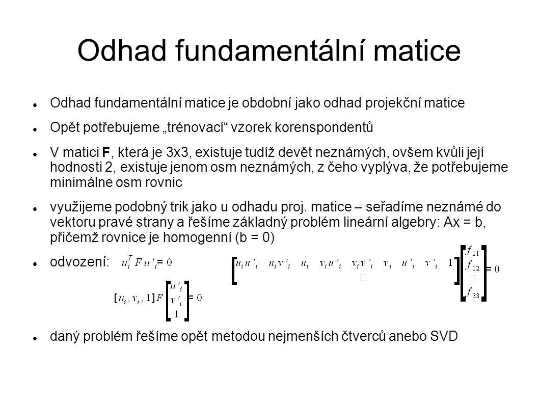Odhad fundamentální matice
