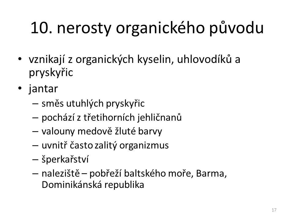 10. nerosty organického původu