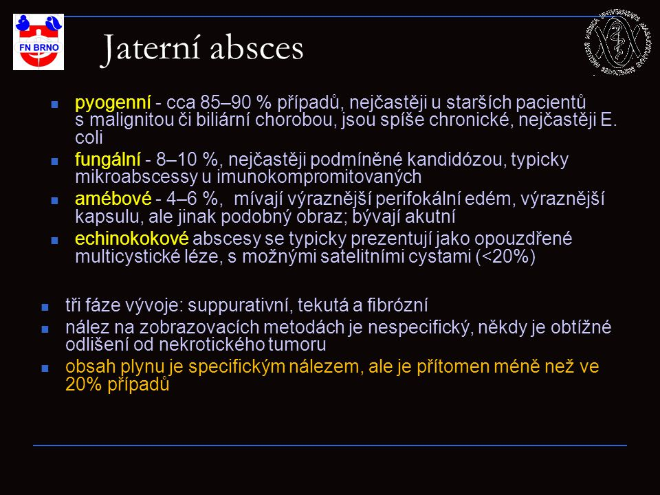 Jaterní absces