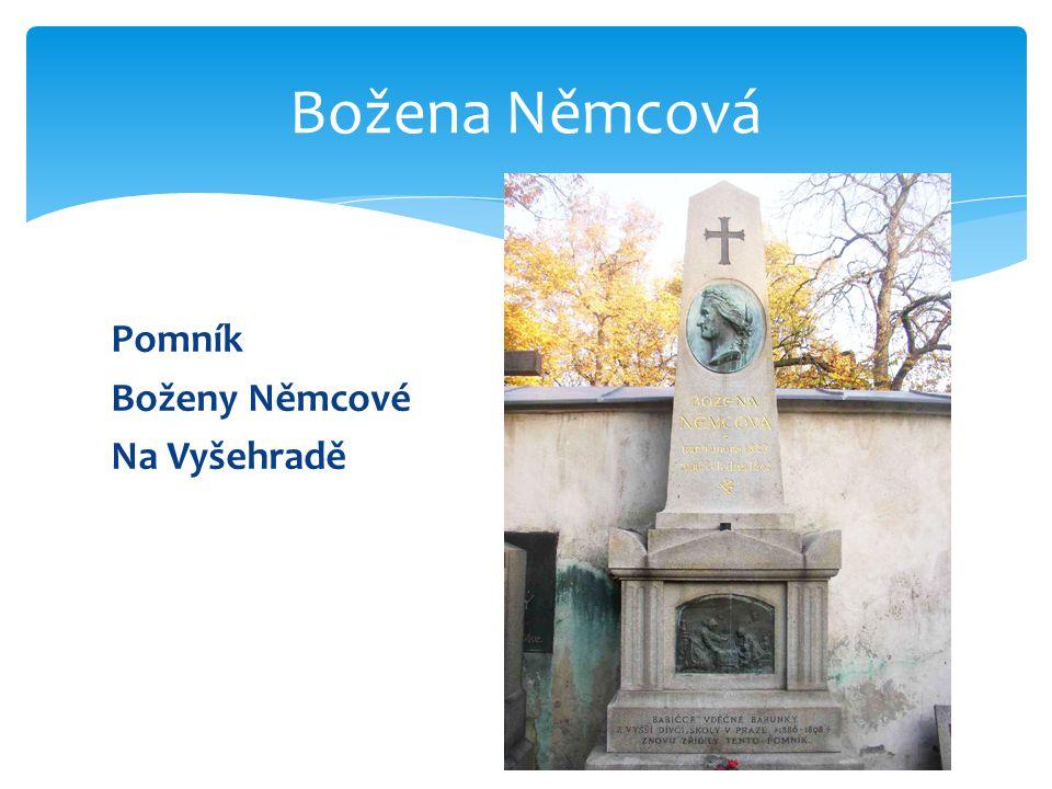 Božena Němcová Pomník Boženy Němcové Na Vyšehradě