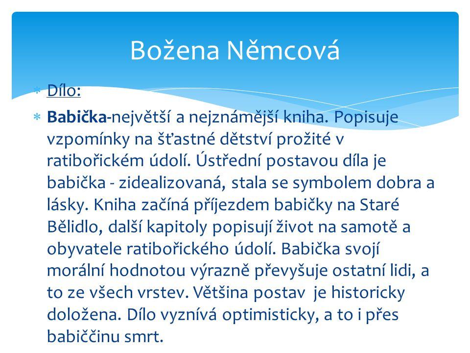 Božena Němcová Dílo: