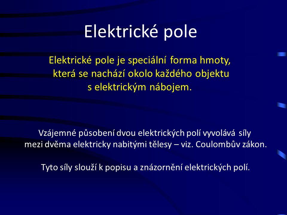 Elektrické pole Elektrické pole je speciální forma hmoty,