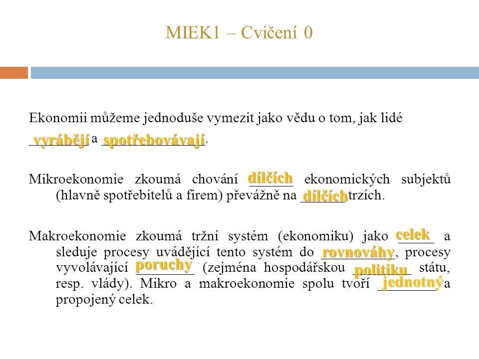 MIEK1 – Cvičení 0 vyrábějí spotřebovávají dílčích dílčích celek