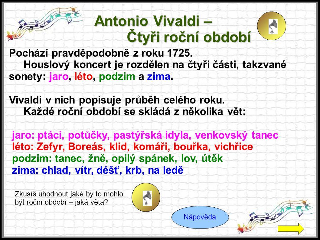 Antonio Vivaldi – Čtyři roční období