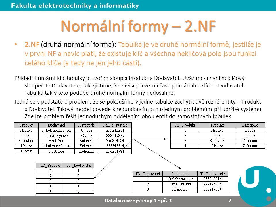 Databázové systémy 1 - př. 3