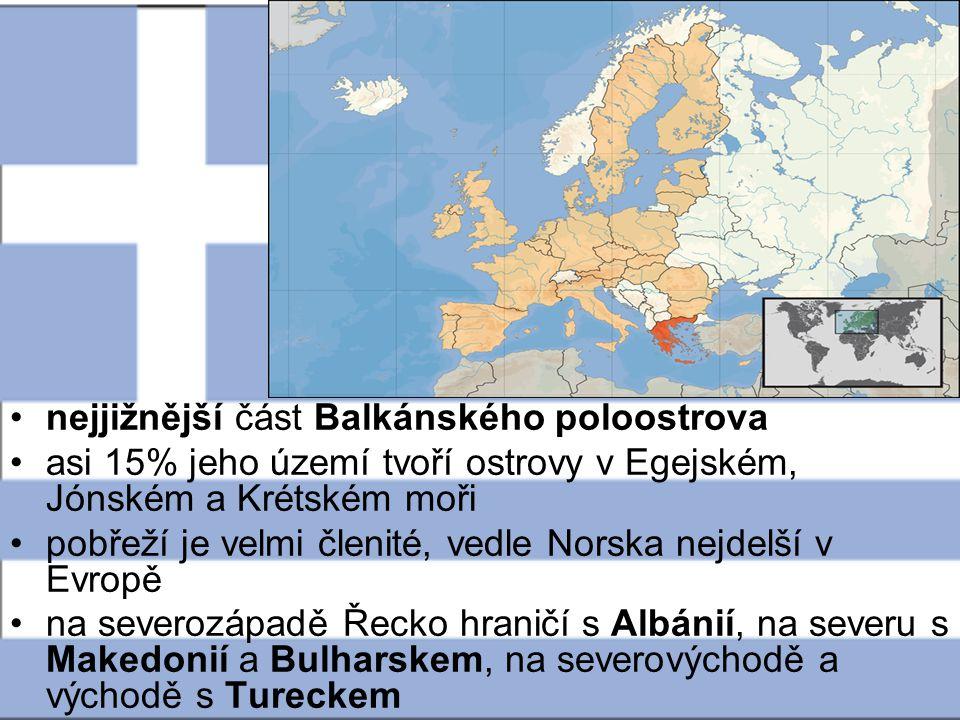 nejjižnější část Balkánského poloostrova
