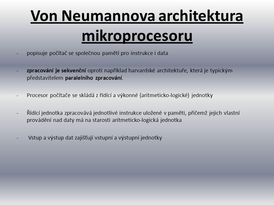 Von Neumannova architektura mikroprocesoru