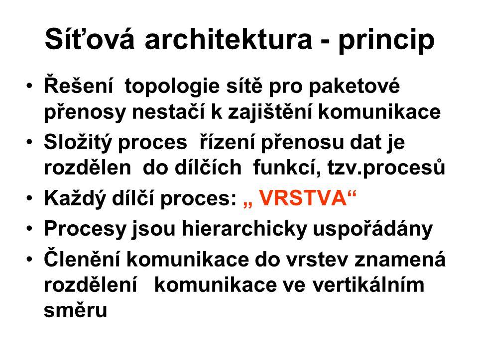 Síťová architektura - princip