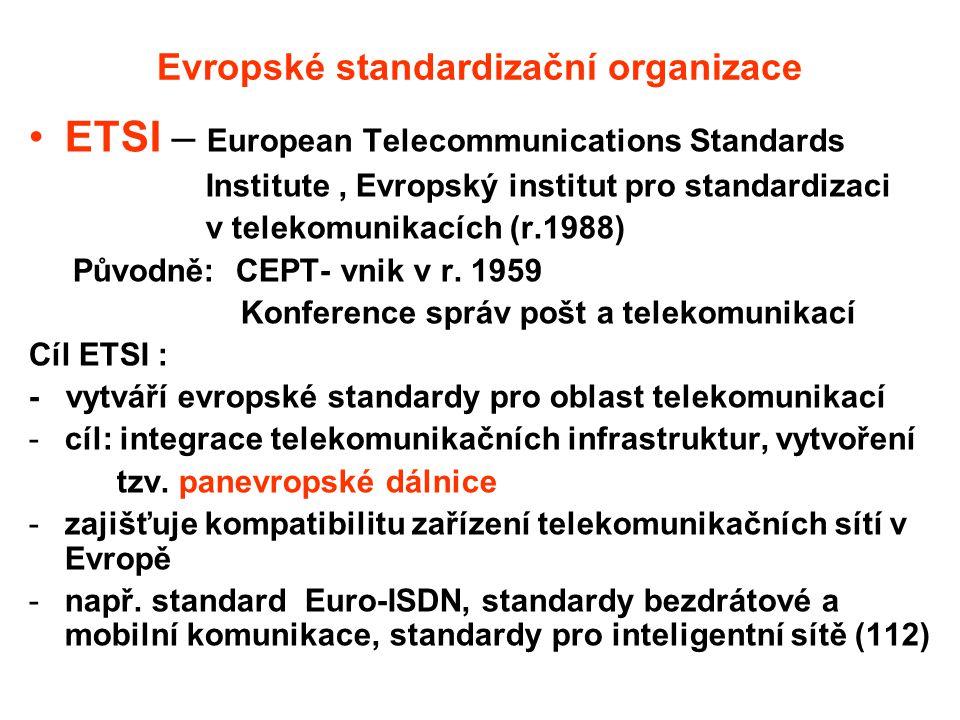 Evropské standardizační organizace