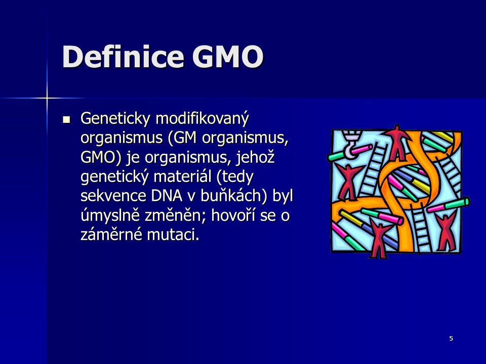 Definice GMO