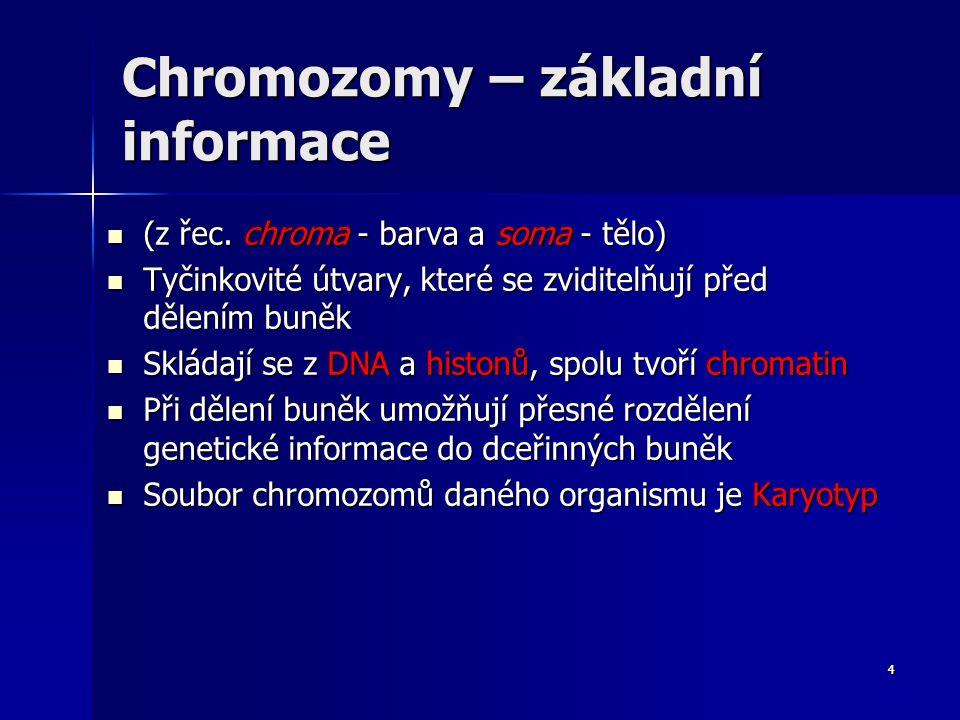 Chromozomy – základní informace