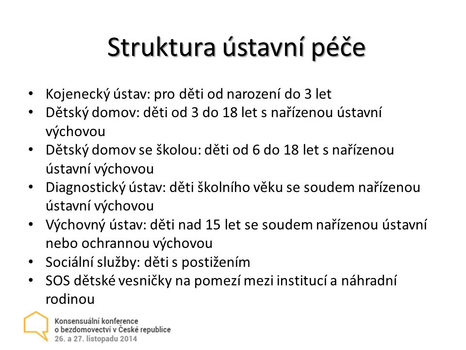 Struktura ústavní péče