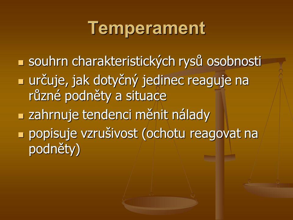 Temperament souhrn charakteristických rysů osobnosti