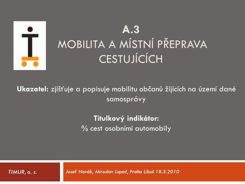 A.3 Mobilita a místní přeprava cestujících