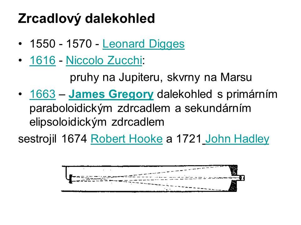 Zrcadlový dalekohled 1550 - 1570 - Leonard Digges