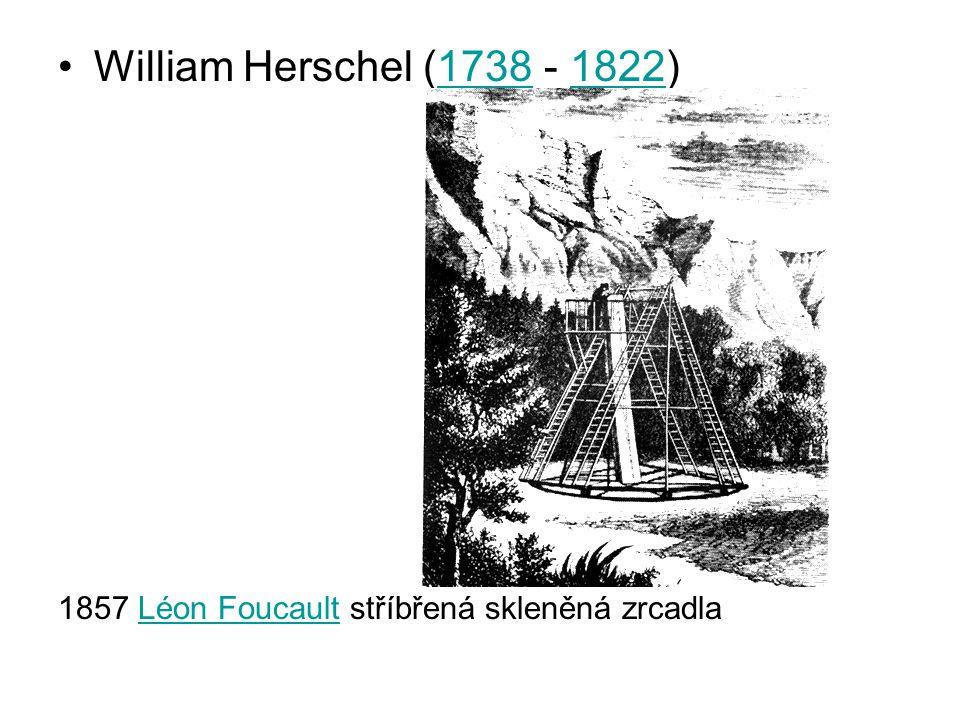 William Herschel (1738 - 1822) 1857 Léon Foucault stříbřená skleněná zrcadla