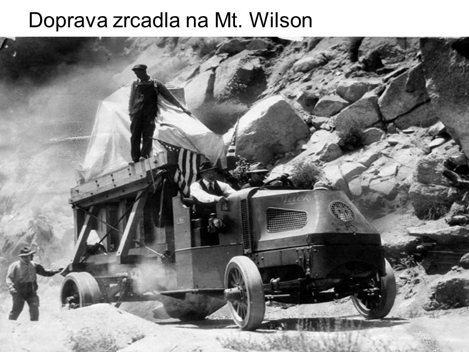 Doprava zrcadla na Mt. Wilson