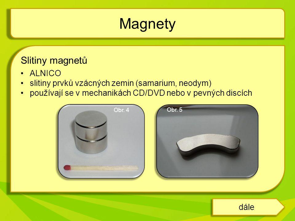 Magnety Slitiny magnetů ALNICO