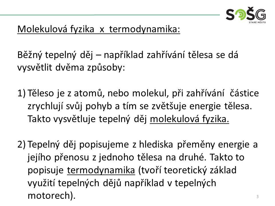 Molekulová fyzika x termodynamika: