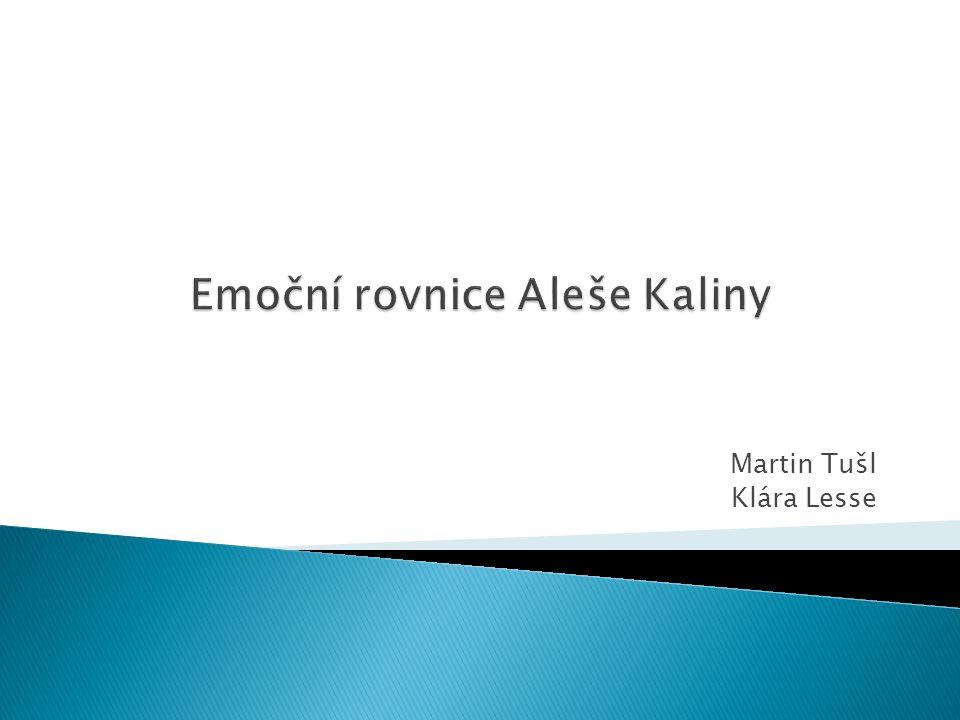 Emoční rovnice Aleše Kaliny