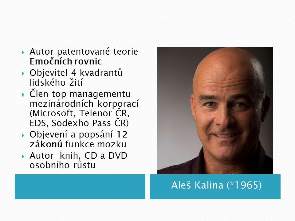 Aleš Kalina (*1965) Autor patentované teorie Emočních rovnic