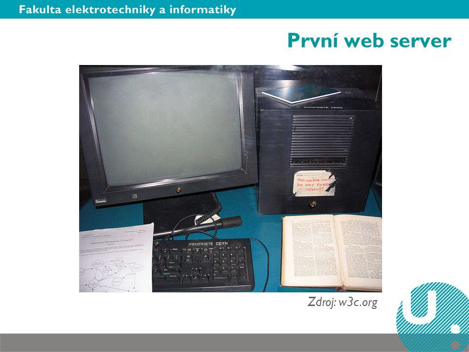 První web server Zdroj: w3c.org