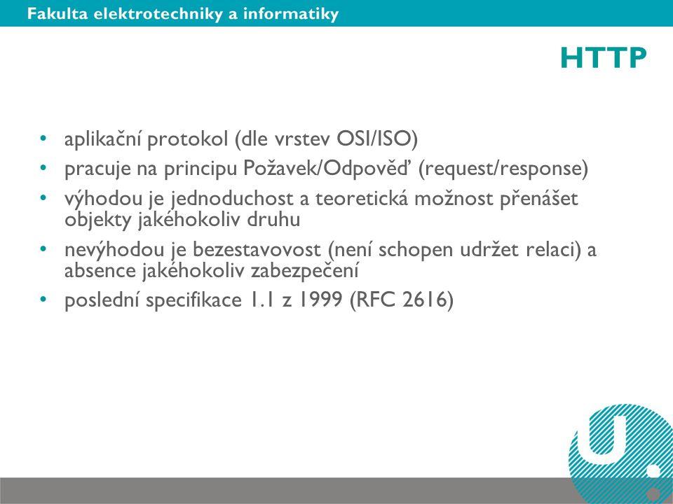 HTTP aplikační protokol (dle vrstev OSI/ISO)