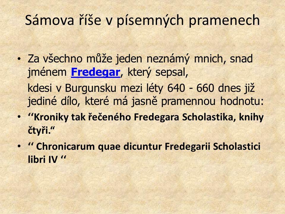 Sámova říše v písemných pramenech
