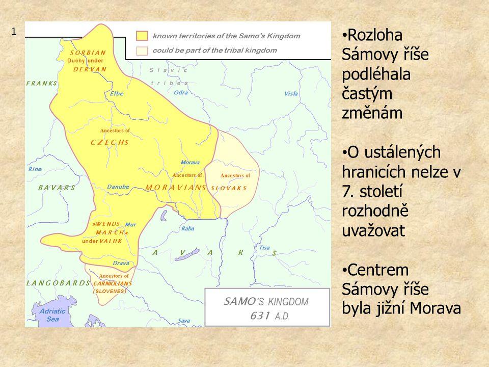 Rozloha Sámovy říše podléhala častým změnám