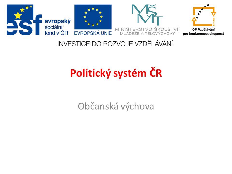 Politický systém ČR Občanská výchova