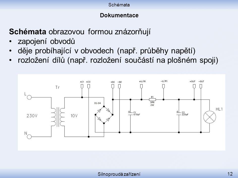 Schémata obrazovou formou znázorňují zapojení obvodů