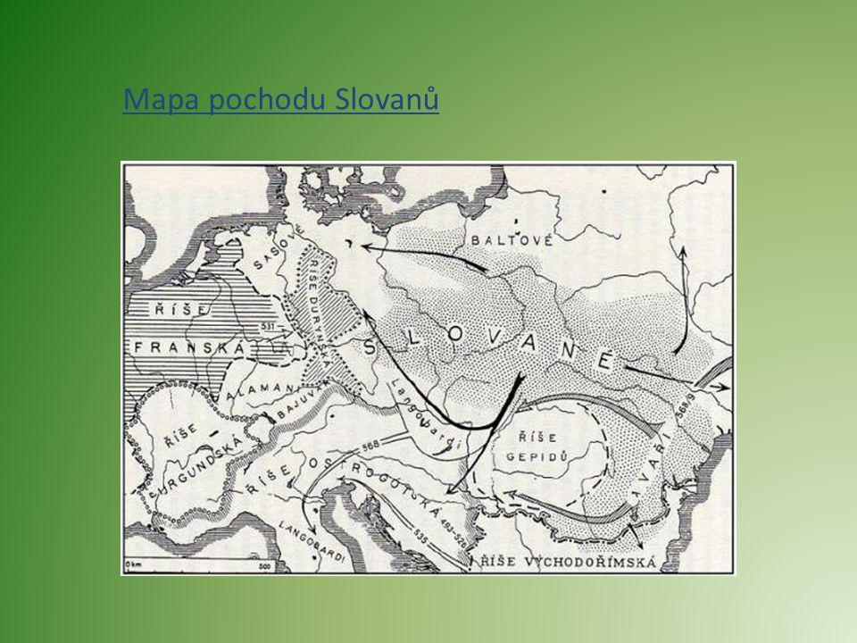 Mapa pochodu Slovanů