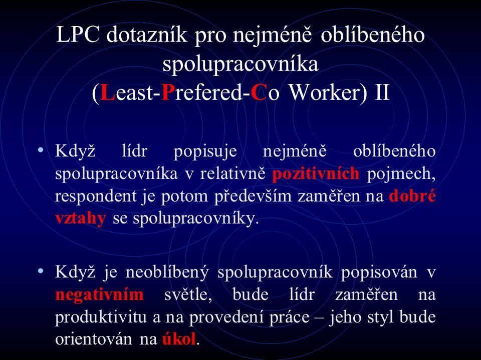 LPC dotazník pro nejméně oblíbeného spolupracovníka (Least-Prefered-Co Worker) II