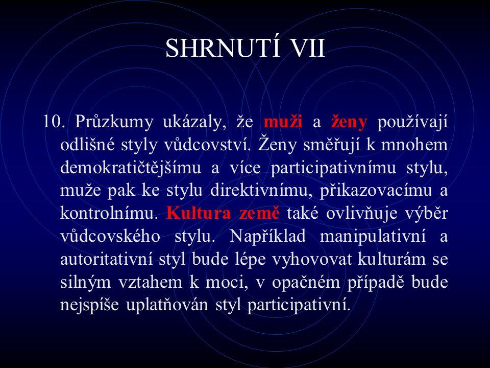 SHRNUTÍ VII