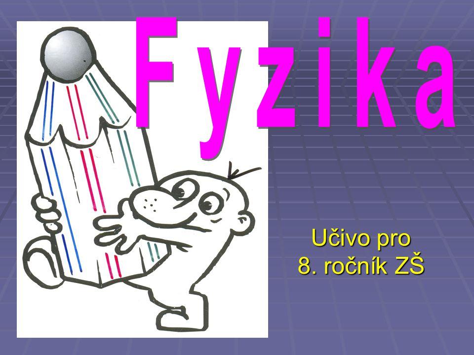 Fyzika Učivo pro 8. ročník ZŠ
