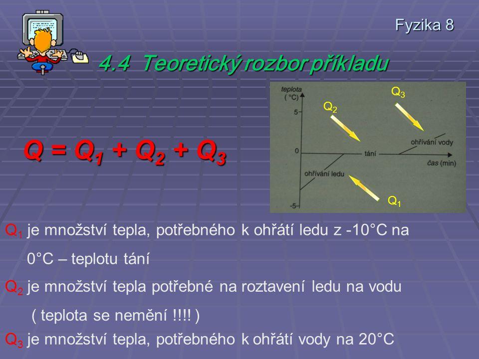 Q = Q1 + Q2 + Q3 4.4 Teoretický rozbor příkladu Fyzika 8