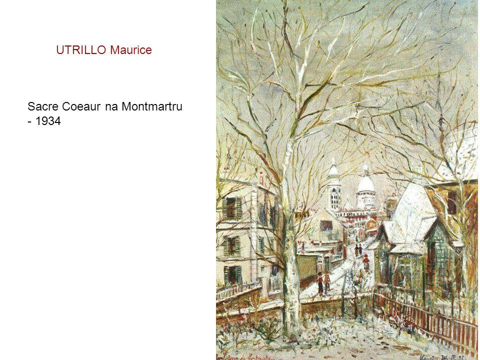 UTRILLO Maurice Sacre Coeaur na Montmartru - 1934