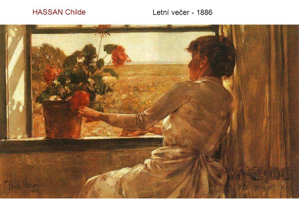 HASSAN Childe Letní večer - 1886