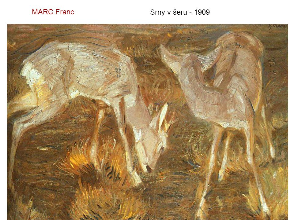 MARC Franc Srny v šeru - 1909