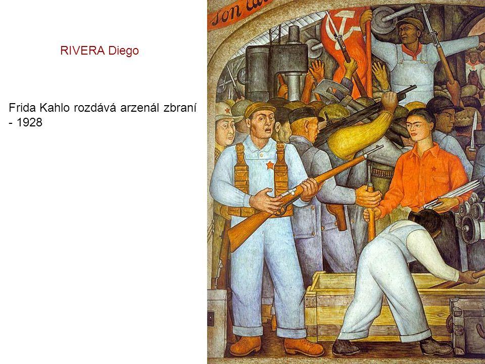 RIVERA Diego Frida Kahlo rozdává arzenál zbraní - 1928