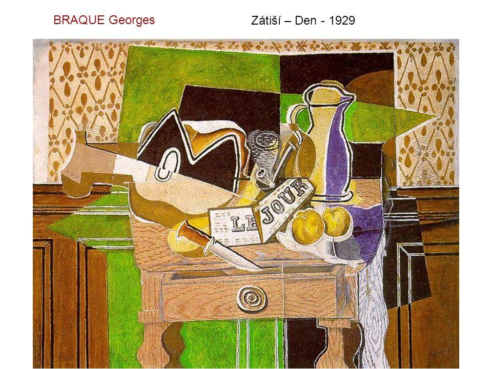 BRAQUE Georges Zátiší – Den - 1929